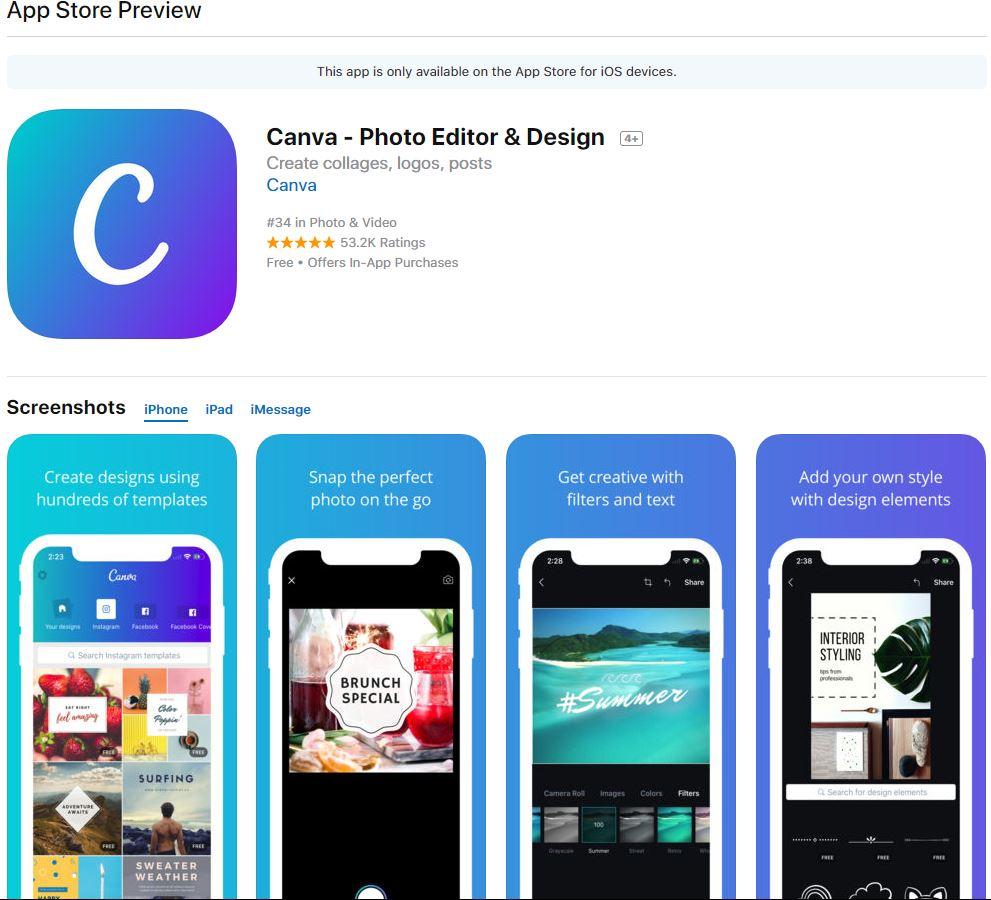 Hướng dẫn thiết kế ảnh avatar, ảnh bìa, ảnh bán hàng miễn phí cực đẹp bằng Canva - image ios-canva on https://atpsoftware.vn