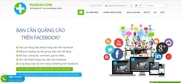 phan mem quang cao facebook plus24h - Top các phần mềm marketing đa kênh tốt nhất 2019
