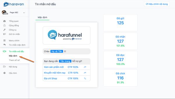 haravan harafunnel tao pheu chatbot - Tạo chat bot cho fanpage bán hàng đơn giản dễ dàng nhất 2019
