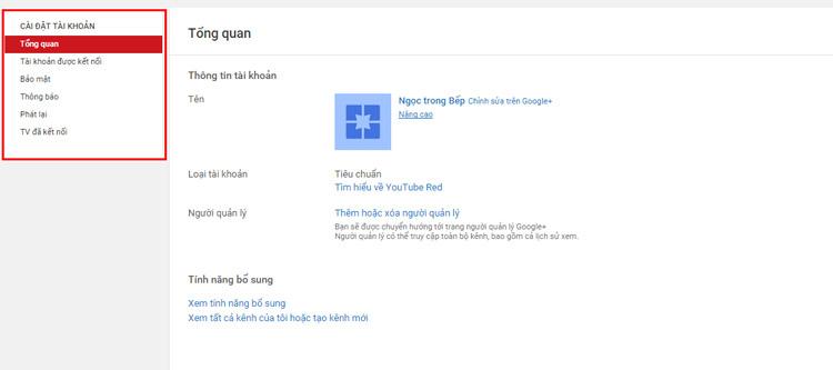 hướng dẫn cài đặt kênh youtube