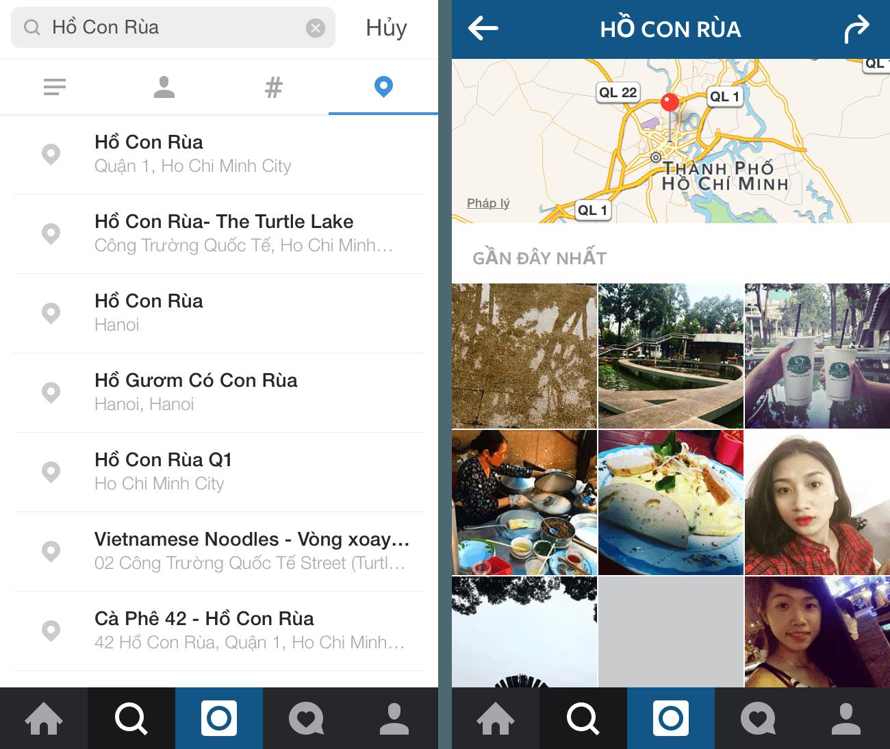 Dùng địa điểm để tiếp cận khách hàng trên instagram