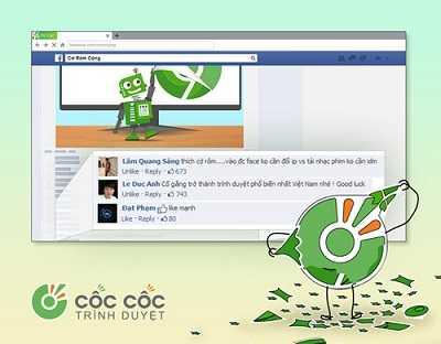 Dùng trình duyệt Cốc Cốc để vào facebook