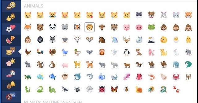 Bộ icon fb đa dạng con vật sinh động