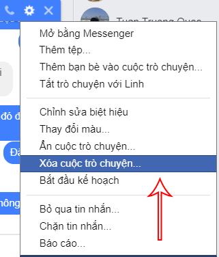 Cách xóa tin nhắn Facebook Messenger