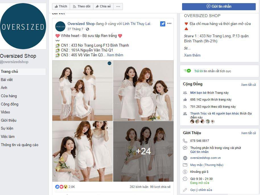 a4 phan tich oversized shop - Phân tích shop thời trang online Oversized Shop trên Fanpage Facebook