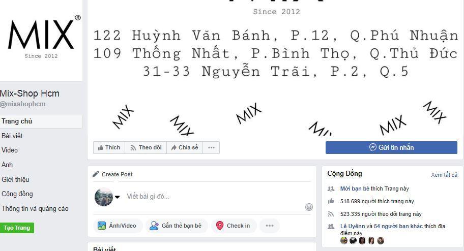 b1 phan tich kinh doanh fanpage mixshop hcm - Phân tích Shop kinh doanh thời trang online trên Facebook