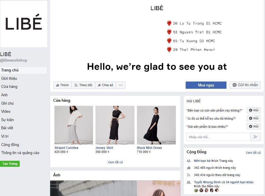 c1 phan tich kinh doanh fanpage libe - Phân tích kinh doanh shop thời trang online Libé trên Fanpage Facebook