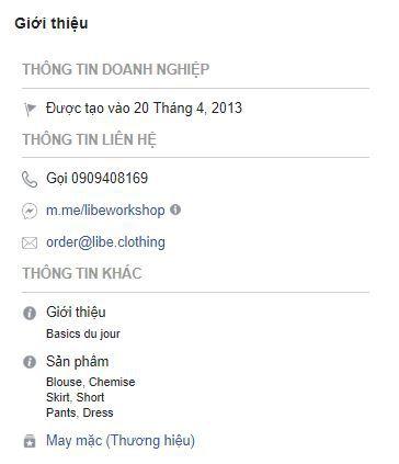c4 phan tich kinh doanh fanpage libe - Phân tích kinh doanh shop thời trang online Libé trên Fanpage Facebook