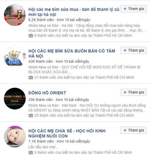 cac nhom tham gia ban hang - Bài học kinh doanh online từ các đối thủ lớn - Kinh doanh tinh bột nghệ