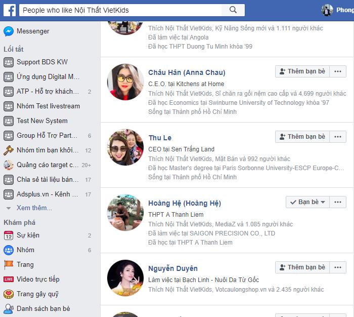 danh sach like page facebook - Kinh nghiệm kinh doanh lĩnh vực nội thất - Bài học kinh doanh từ các đối thủ lớn