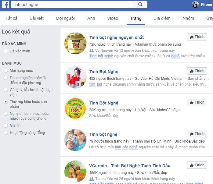 doi thu tren facebook - Bài học kinh doanh online từ các đối thủ lớn - Kinh doanh tinh bột nghệ