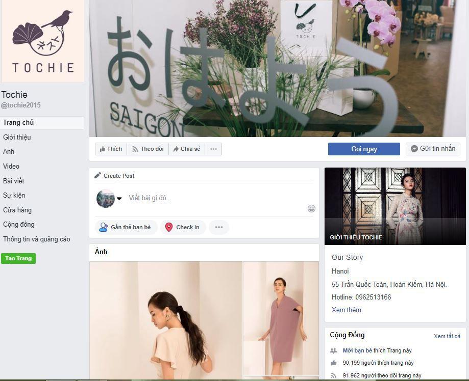 e1 phan tich kinh doanh fanpage Tochie - Phân tích shop thời trang online Tochie trên Fanpage Facebook