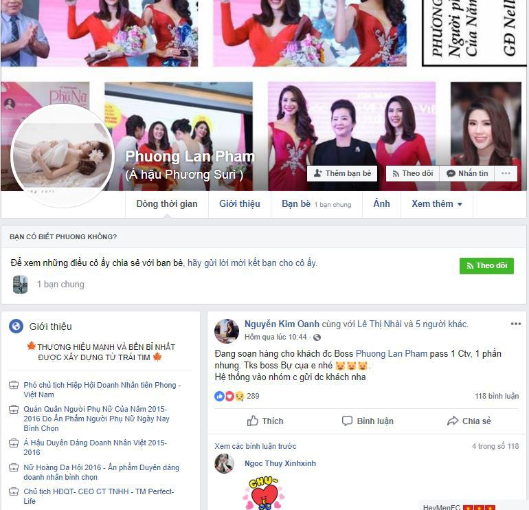 f1 a hau phuong suri ban hang online - Cách bán mỹ phẩm online trên Facebook của Á hậu Phương Suri