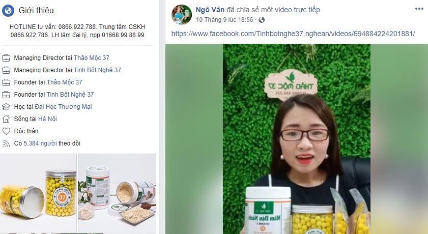 nick fb ca nhan ban ahng - Bài học kinh doanh online từ các đối thủ lớn - Kinh doanh tinh bột nghệ