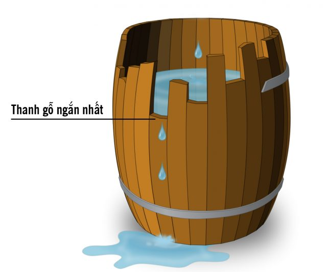 Nguyên lý Liebig hay thùng gỗ: Cải thiện điểm yếu nhất