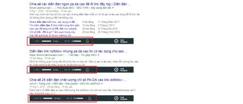 Diễn đàn có chỉ số DA và PA cao