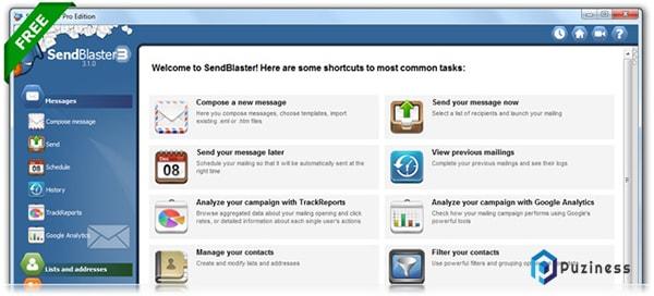 Phần mềm gửi email hàng loạt miễn phí Free Bulk Email Software