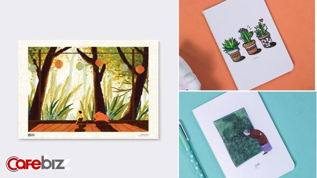 Monosketch: Startup thương mại hóa tác phẩm của họa sĩ trẻ Việt lên sổ tay, tranh treo tường, bưu thiếp... - Ảnh 2.