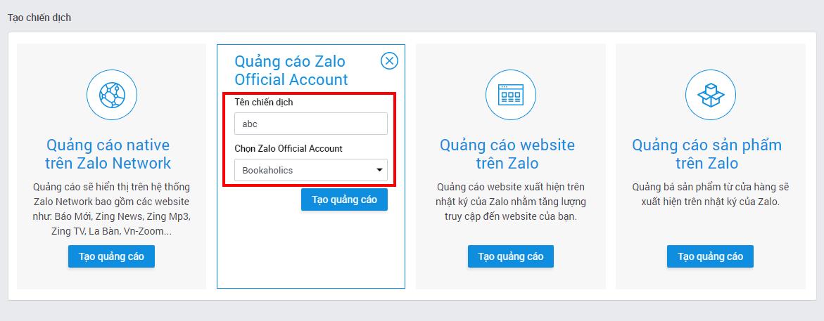 3dc4fb7a 894f 4423 98bf 6b759e045193 - Hướng dẫn tạo quảng cáo Zalo Official Account