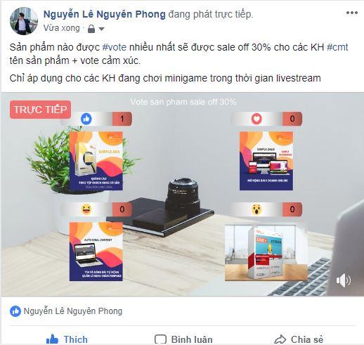 chay minigame vote - Gợi ý 5 cách thức quảng cáo khuyến mãi hiệu quả cao trên Facebook bằng phần mềm ATP