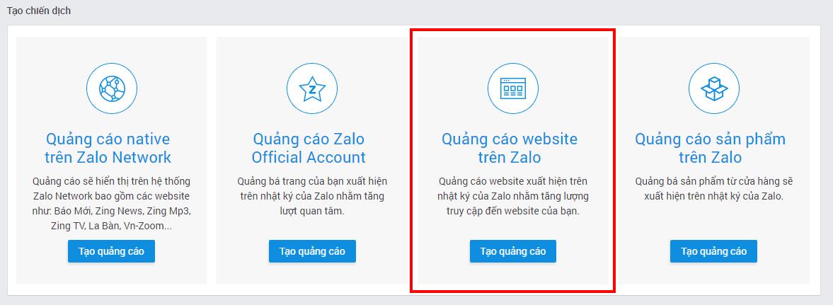 71592d51 9c98 42b7 9a61 6d89b1cf5187 - Hướng dẫn chạy quảng cáo website trên nền tảng Zalo