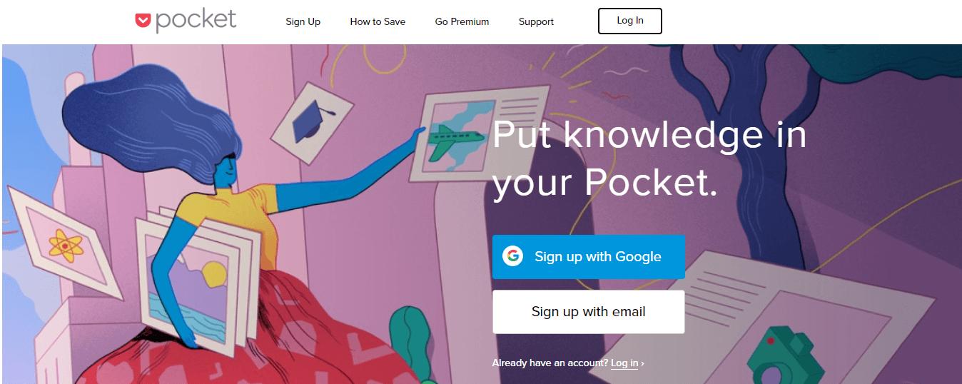 pocket - 13 Công cụ tiếp thị nội dung cần thiết nhất để sử dụng trong năm 2019